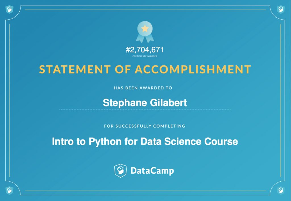 Python with Datacamp | ChezSteph